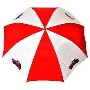 Fiat 500 rood-witte golfparaplu
