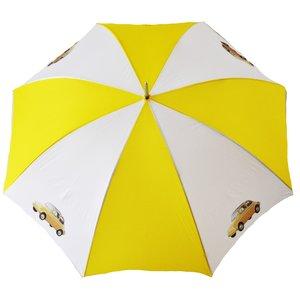 Fiat 500 geel-witte golfparaplu