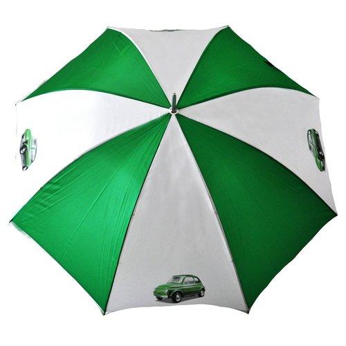 Fiat 500 groen-witte golfparaplu
