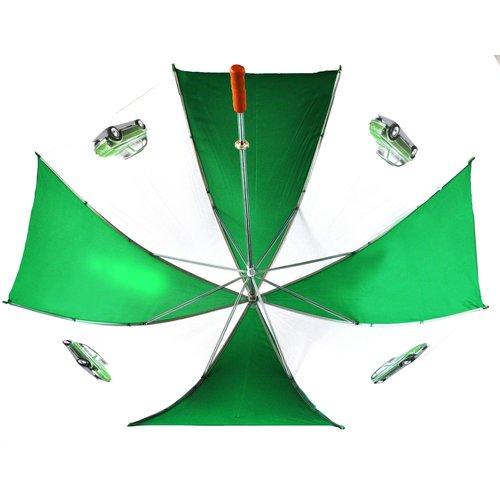Fiat 500 grüner-weißer golfschirm