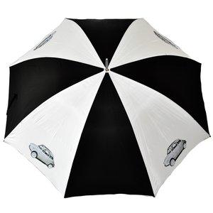 Fiat 500 zwart-witte golfparaplu