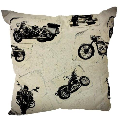 Harley Davidson witte sierkussen 45x45 cm