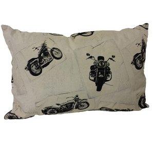 Harley Davidson witte sierkussen 60x40 cm