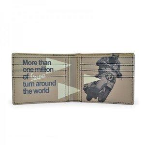 Vespa vintage portemonnee met opdruk (beige)