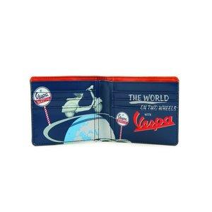 Vespa vintage Portemonnee met opdruk (blauw)