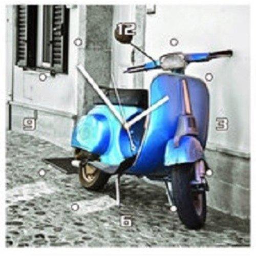Vespa wandklok blauw