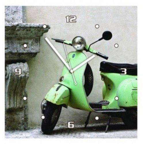 Vespa wandklok groen