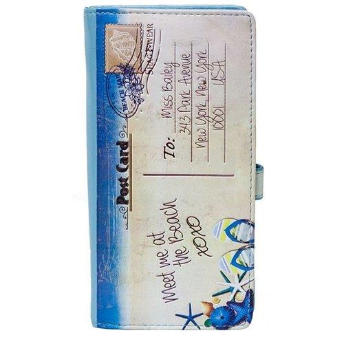 Grote damesportemonnee Beach Post Card