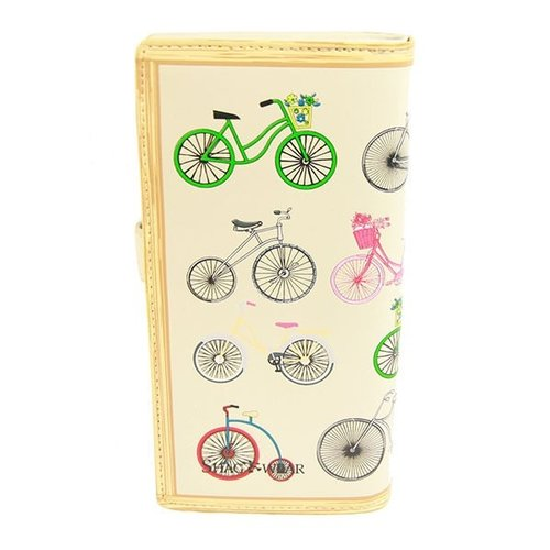 Grote damesportemonnee Vintage Bicycles