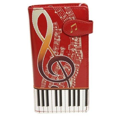 Grote rode damesportemonnee Keyboard Melody