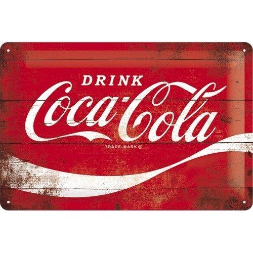 Coca Cola rood logo 3D metalen wandplaat
