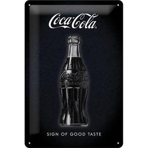 Coca Cola Zwart Vintage Flesje 3D metalen wandplaat