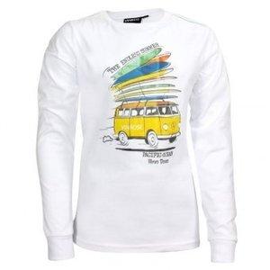 Longsleeve jongens trui met gele VW T2 bus