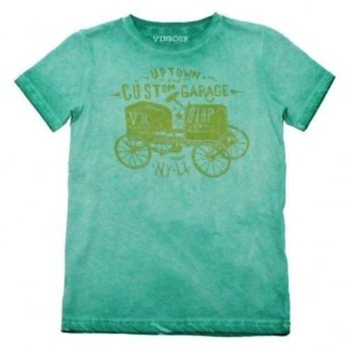 Oldtimer groene jongens T-shirt