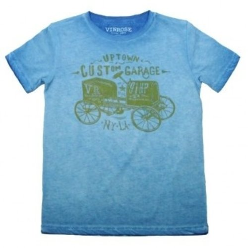 Oldtimer licht blauw jongens T-shirt