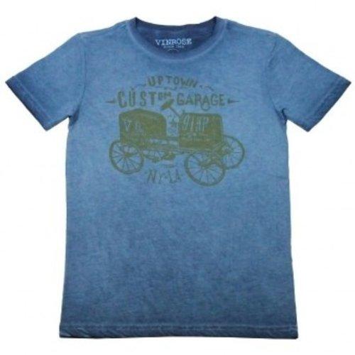 Oldtimer donker blauw jongens T-shirt