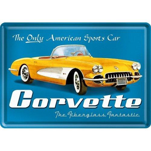 Corvette 1959 metalen kaart