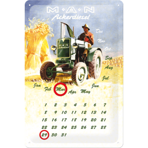 Metalen Kalender MAN Ackerdiesel