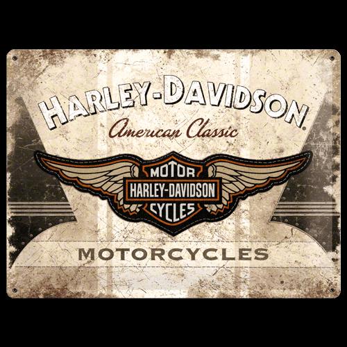 Harley-Davidson American Classic Logo metal postcard 30x40