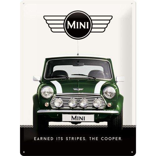 Mini Cooper Green metalen wandplaat 30x40