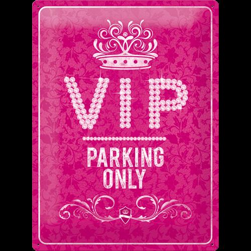 VIP Parking Only roze metalen wandplaat