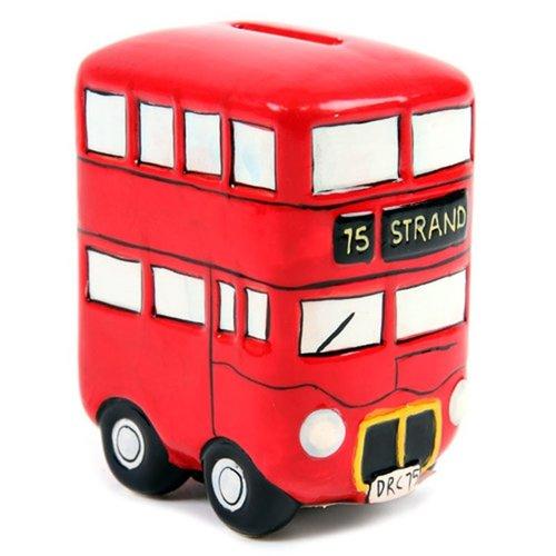 Engelse Dubbeldekker bus keramische spaarpot