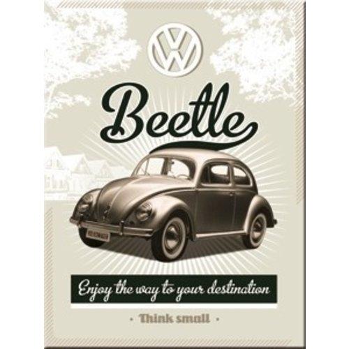 Magneet Volkswagen Retro Beetle Think small