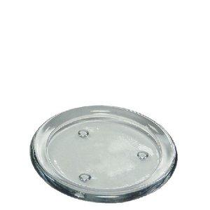 Glazen onderzetter voor kleine Ambiente kaars