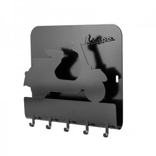 Vespa metalen sleutelbord zwart