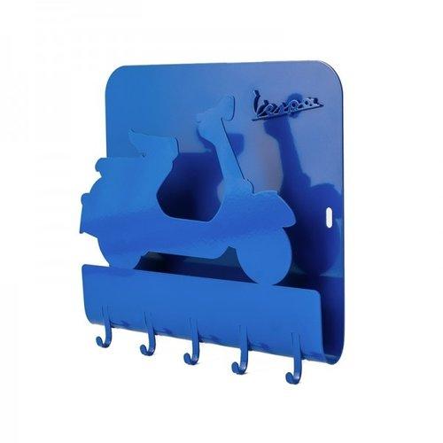 Vespa metalen sleutelbord blauw