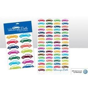 Volkswagen Kever multi-gekleurde theedoek