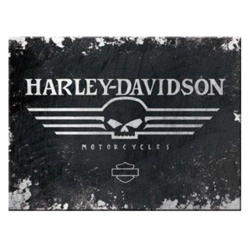 Magneet Harley Davidson Skull