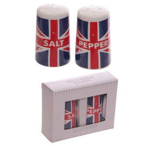 Britse Vlag porseleinen peper en zoutstel