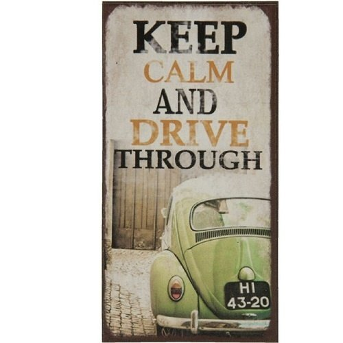 Magneet VW Kever Keep Calm and Drive Through