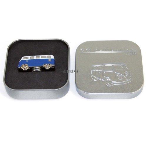 Volkswagen T1 bus blauwe magneet in mini vorm