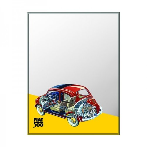 Wandspiegel Fiat 500 Skelet