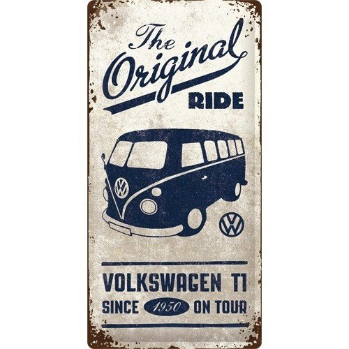 VW Bulli The Original Ride metalen wandplaat