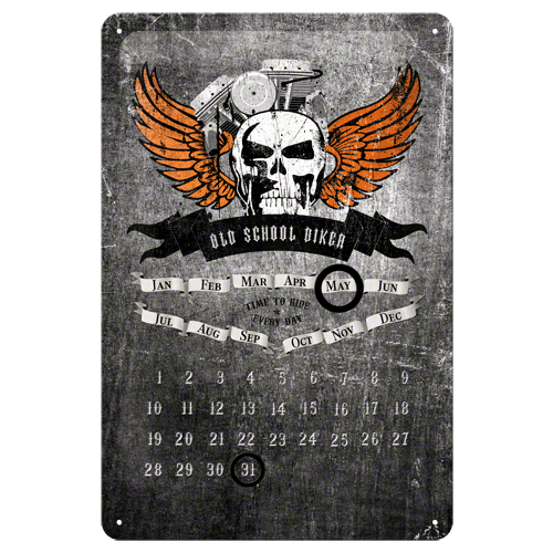 Metalen Kalender Harley-Davidson Doodshoofd