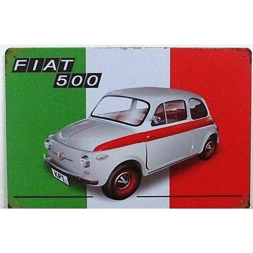 Fiat 500 Metalen wandplaat
