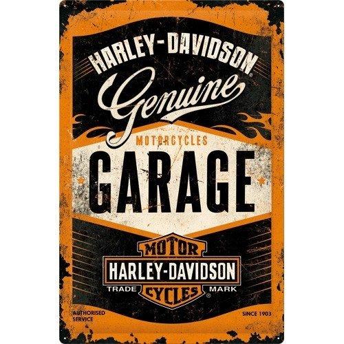 Harley Davidson Genuine Garage logo metalen wandplaat