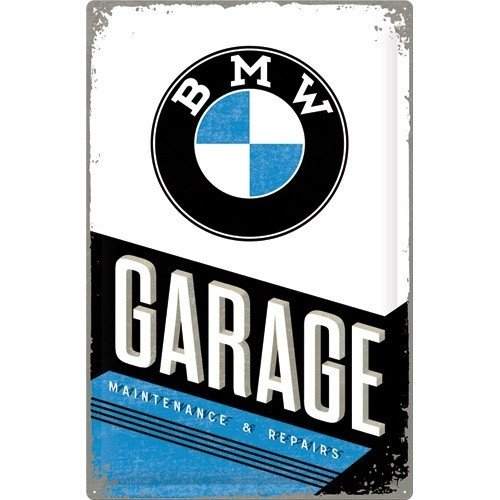 BMW Garage logo metalen wandplaat 40 x 60 cm