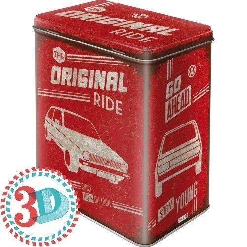 3D Metalen Volkswagen Golf the Original Ride box