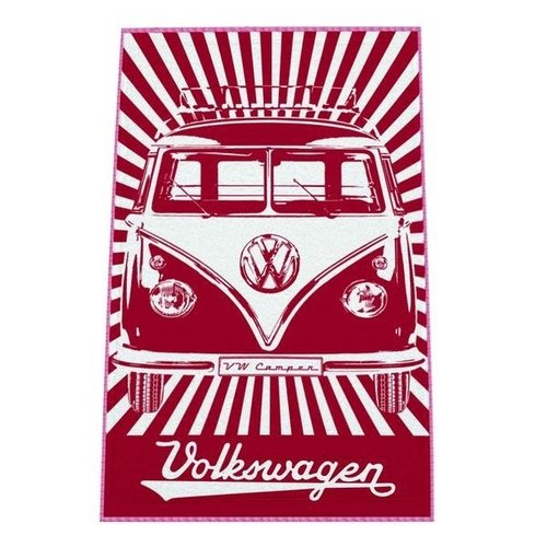 Volkswagen T1 rood strandlaken