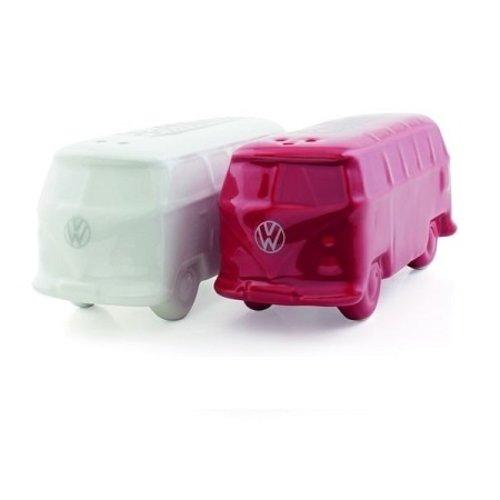 Volkswagen T1 bus 3D peper en zoutstel wit/rood