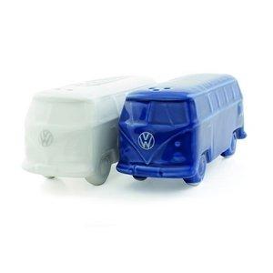 Volkswagen T1 bus 3D peper en zoutstel wit/blauw