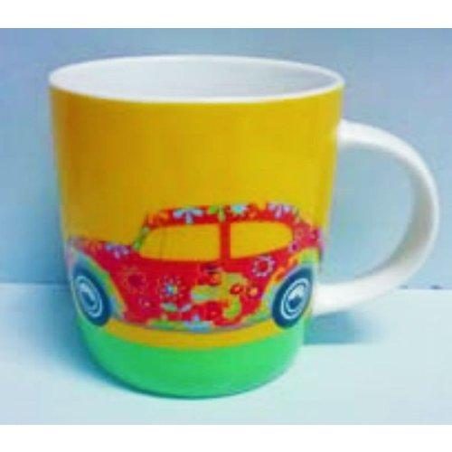 Volkswagen  Luftgekühlte VW Flower Beetle Kaffeetasse 400 ml