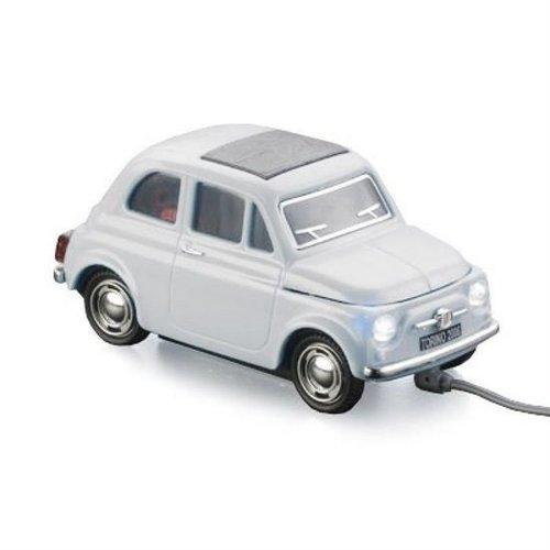 Fiat 500 witte computermuis