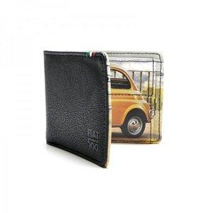Fiat 500 zwart/gele portemonnee