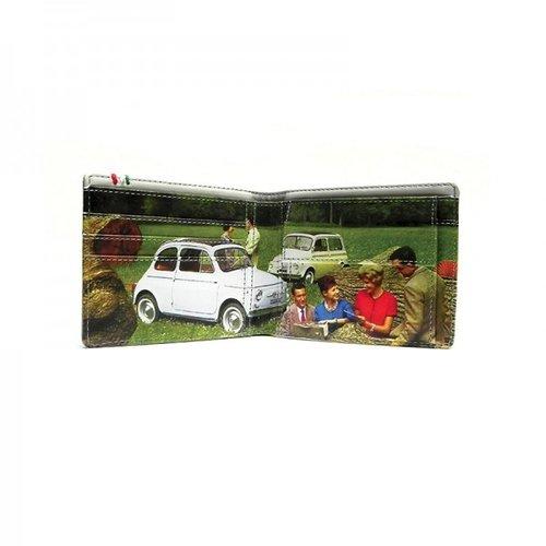 Fiat 500 zwart/groene portemonnee