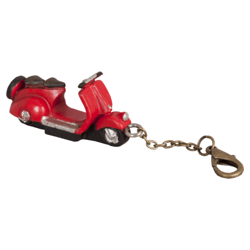 Vespa sleutelhanger rood
